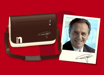 vinci borsone Nutella autografato da Cesare Prandelli