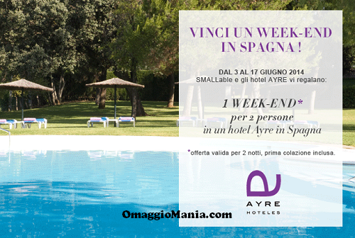 vinci weekend in Spagna acon Smallable