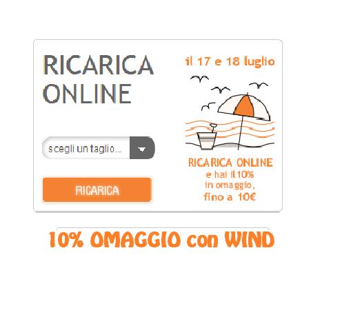 RICARICA OMAGGIO WIND 10