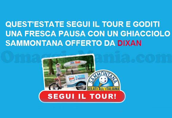 Tour Dixan ghiacciolo Sammontana gratis