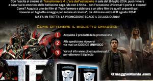 biglietto cinema omaggio con Transformers e IBS