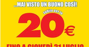 buono sconto Mercatone Uno da 20 euro