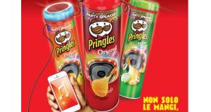 cassa altoparlante omaggio con Pringles