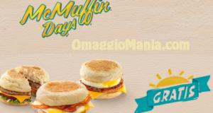 colazione gratis da McDonald's -mcmuffin days