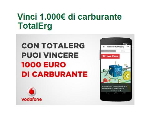 concorso vodafone total erg
