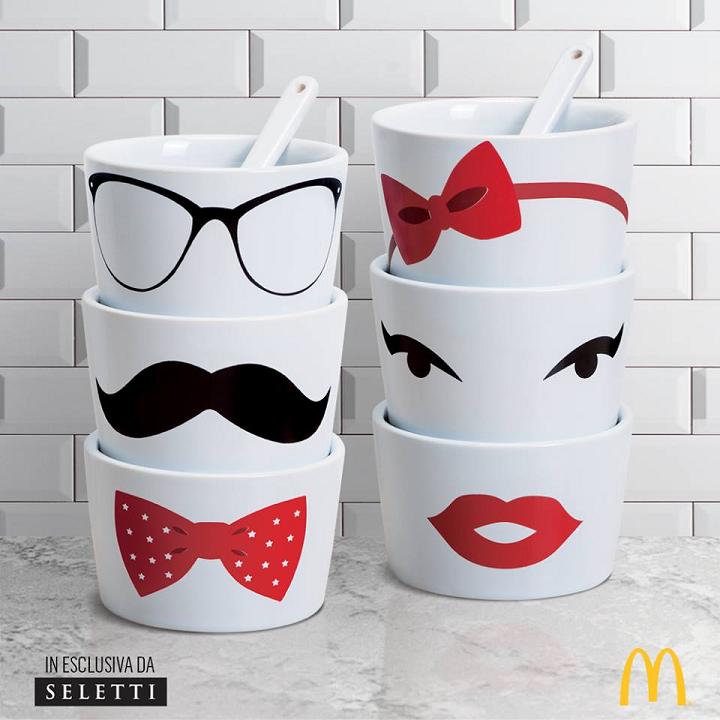 coppetta Seletti in omaggio da McDonald's