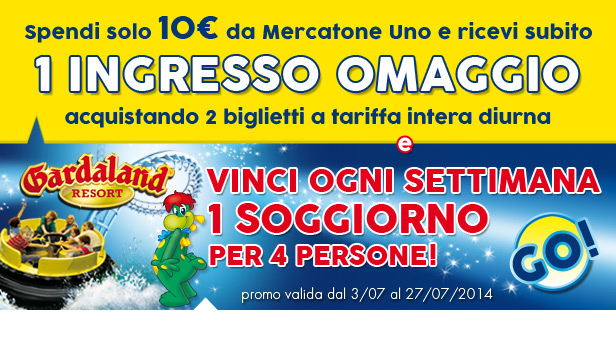Ingresso omaggio Gardaland con Mercatone Uno - OmaggioMania