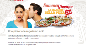 pizzagiovane gratis