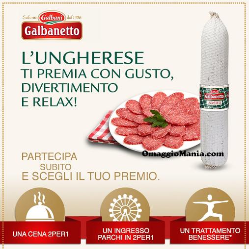 premio sicuro con salame ungherese Galbanetto Galbani