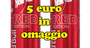premio sicuro in omaggio con Red Bull Red Edition