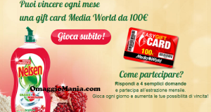 vinci EasyGift Card MediaWorld con Nelsen