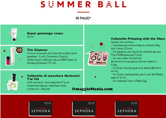 vinci kit cosmetici o carta regalo Sephora