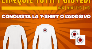 vinci maglietta o adesivo Ciclopi con il Cinequiz