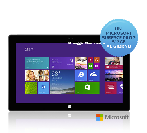 vinci un tablet Surface al giorno