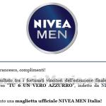 vincita maglietta ufficiale Nivea MEN Italia