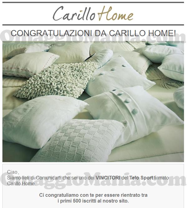 vincita telo sport Carillo Home