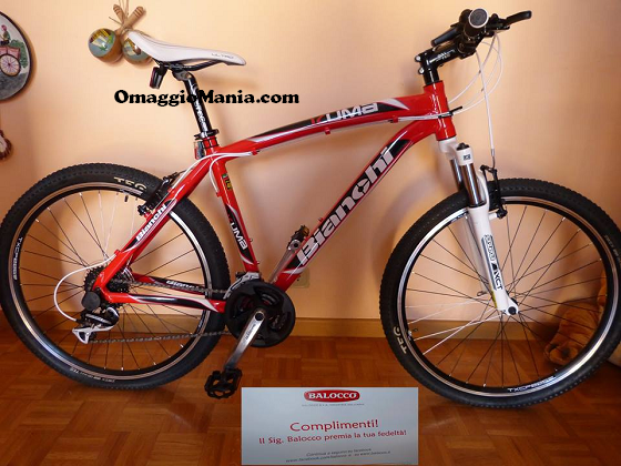 vinta mountain bike con Balocco
