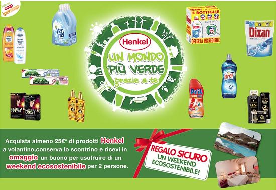 weekend ecosostenibile omaggio con Henkel
