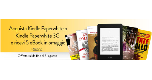 5 ebook omaggio con Amazon Kindle