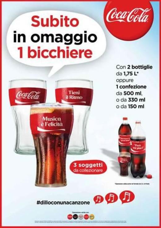 bicchiere Coca Cola omaggio