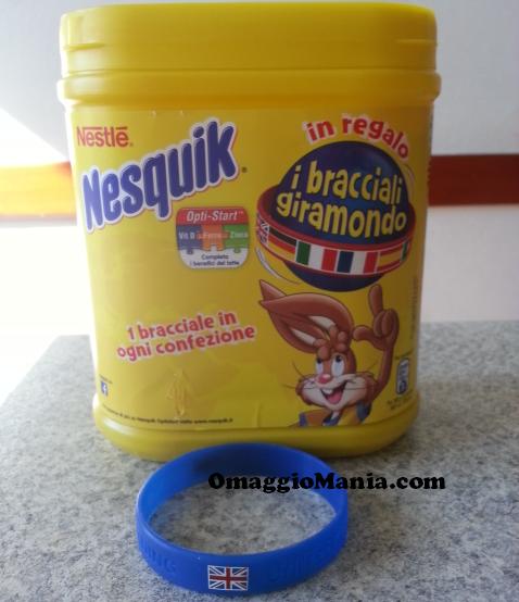 bracciale Giramondo in omaggio con Nesquik
