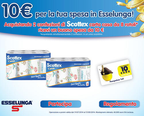 buono esselunga con scottex