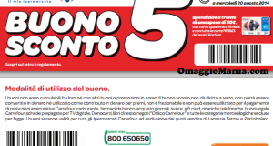 buono sconto Carrefour fino al 20 agosto 2014
