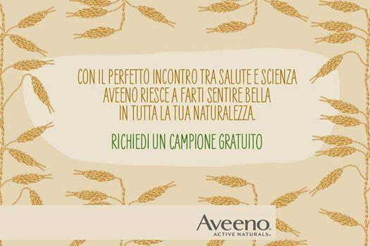 campione gratuito prodotti Aveeno