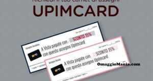 carnet di buoni sconto Upimcard