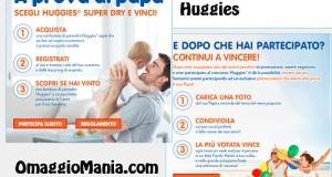 concorso a premi huggies vinci pannolini assciurazione e viaggio