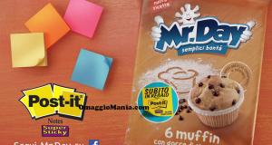 post-it omaggio con Muffin Mr.Day