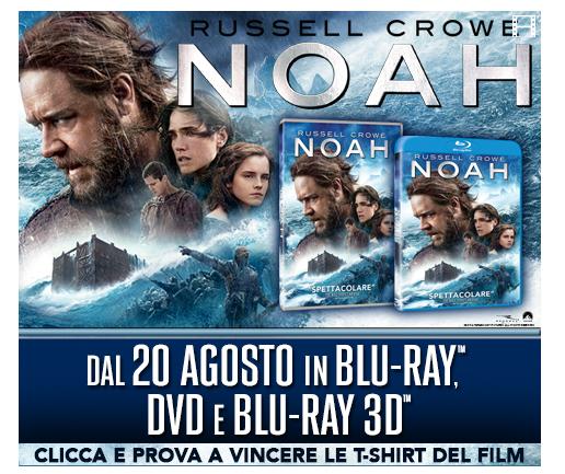 vinci t-shirt o DVD del film Noah