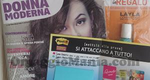 Donna Moderna con smalto omaggio e campione omaggio Post-It