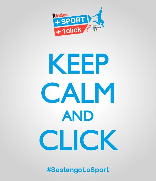 Kinder+Sport dona con un click