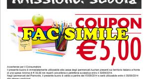 buono sconto Auchan prodotti scolastici