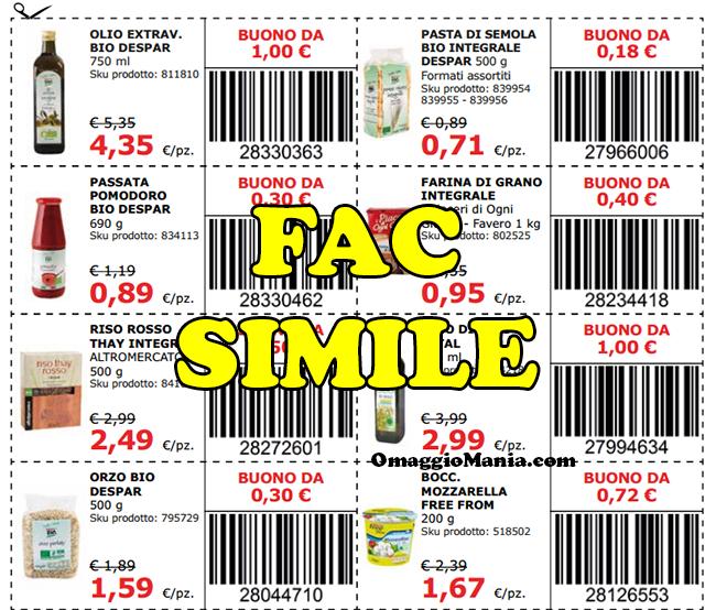 Buoni spesa da stampare gratis for Buoni coupon