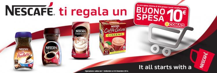 coupon spesa Conad con Nescafè