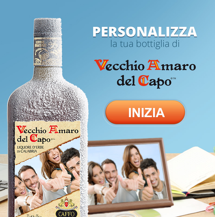 etichetta personalizzata gratis Vecchio Amaro del Capo