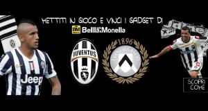 indovina Juventus Udinese e vinci gadget