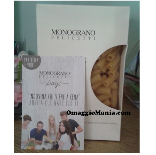 confezione di pasta Felicetti gratis