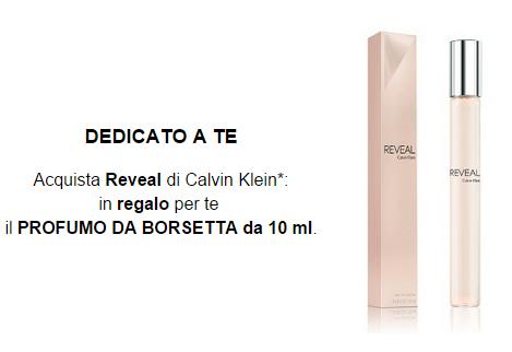 profumo da borsetta omaggio con Reveal Calvin Klein