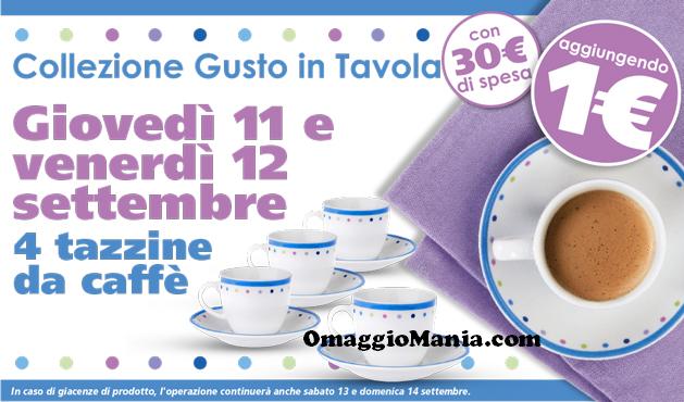 tazzine da caffè a 1 euro da Eurospin