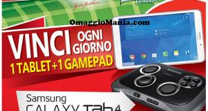 vinci tablet e gamepad Samsung con Bel Paese Galbani