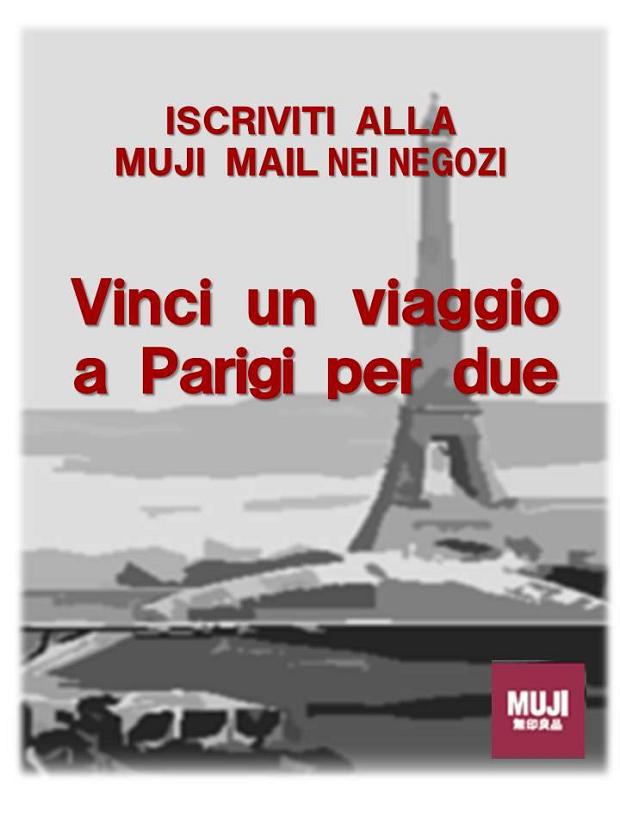 vinci volo a Parigi con Muji