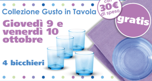 4 bicchieri gratis da Eurospin