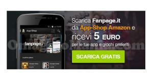 5 euro omaggio App-Shop Amazon