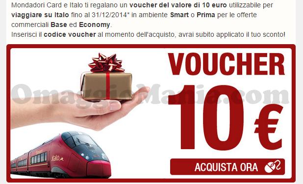 BUONO SCONTO ITALO 10 EURO