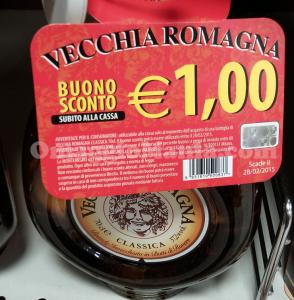 buono sconto Vecchia Romagna 2015