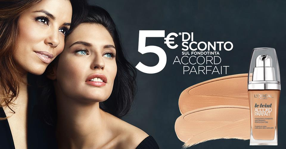 buono sconto fondotinta Accord Parfait L'Oréal