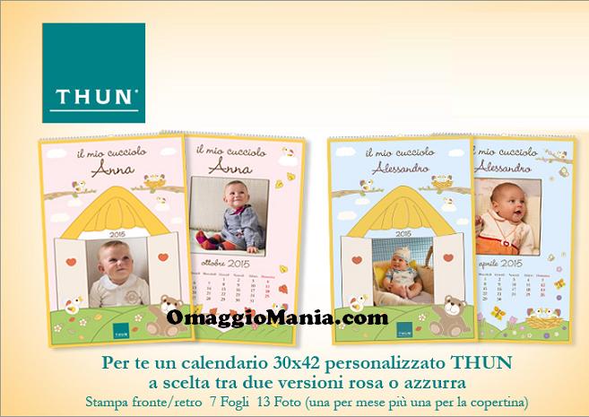 calendario personalizzato Thun omaggio